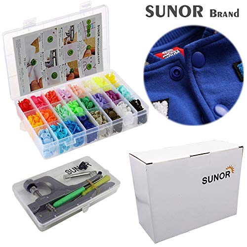 Snap Buttons and Snap Pliers Set, 360 Pcs 24 Colors Set T5 Plastic Snaps for Sewing and Crafting