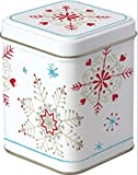Celebrate the Home DOD743491 Holiday Tea Storage, Winter Crystals-White/Red