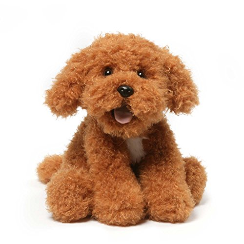 GUND Jewel Poppy Puppy Dog Stuffed Animal Plush, Brown, - Dog Gund Toy White