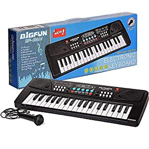 TUMTUM 37 Key Bigfun Key Board Piano Keyboard Toy for Kids with Microphone Dc Power Option Recording Charger not Included Best Birthday Gift for Boys and Girls 2019 Latest Model