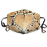 BGHER Heart Wood Pile Mens & Womens Unisex Comfortabl Anti-dust Masks