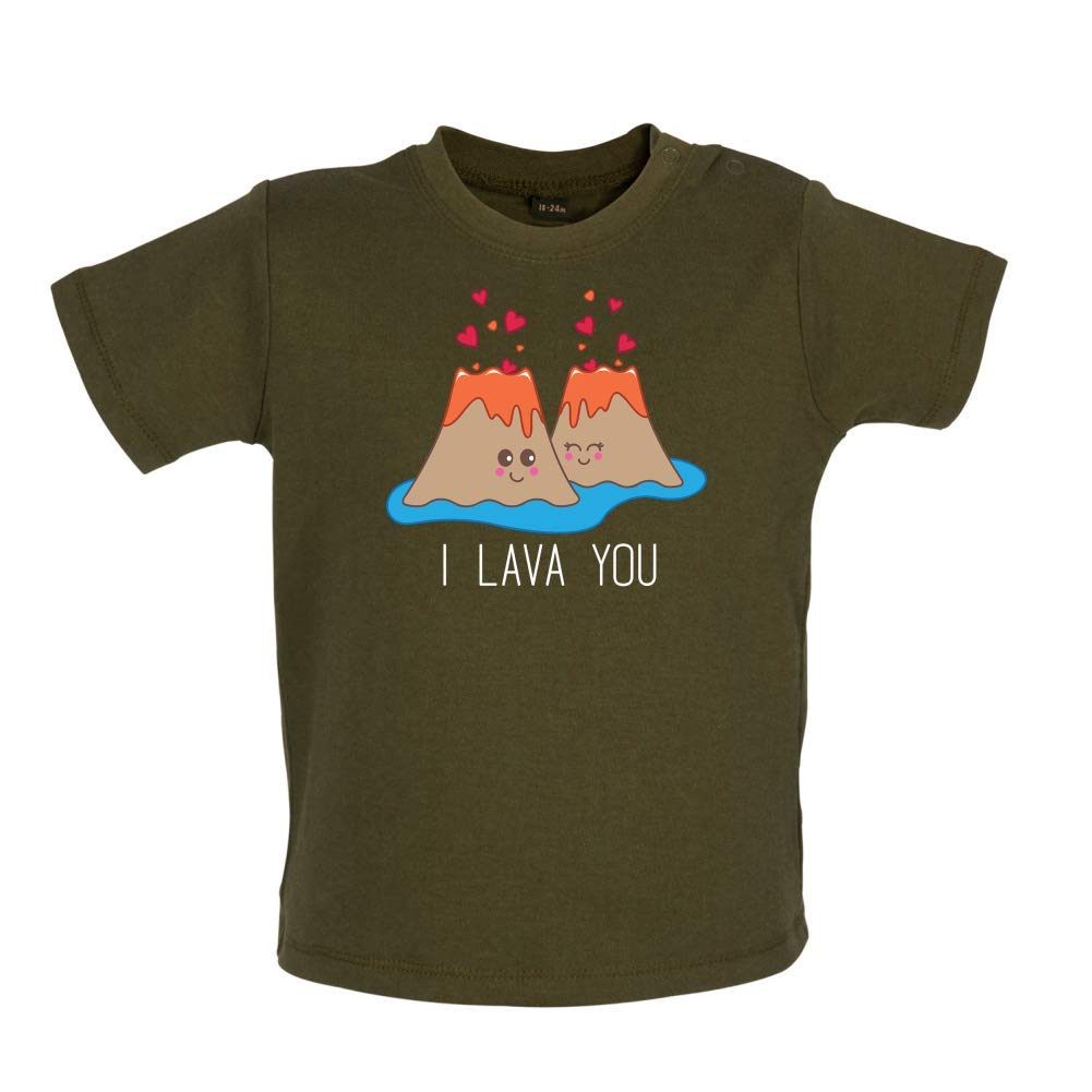 Dressdown I Lava You Baby T-Shirt 8 Colours 3-24 Months