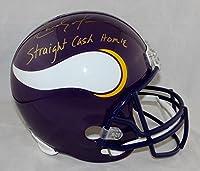 Randy Moss Signed G Vikings F/S 83-01 TB Helmet W/ Straight Cash U- JSA W Auth