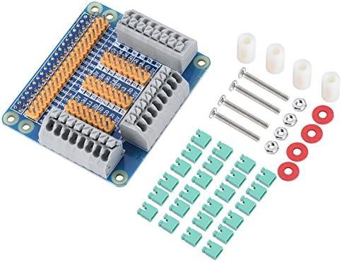 Tonysa Multifunktionale GPIO Erweiterungsplatine,Erweiterungsboard für Raspberry Pi 2 3 B,Kompatibel mit 24 Überbrückungskappen/Schraubensatz/ausgezeichneter Qualität/Druckverfahren