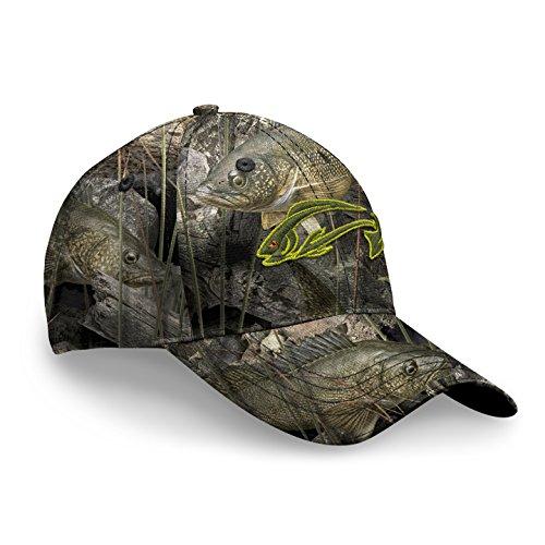 Fishouflage Walleye Fishing Hat - Driftwood Bay Camo Hat