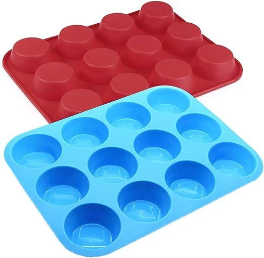 galletas Juego de moldes de silicona para dona bricolaje pud/ín hornear muffin pastel