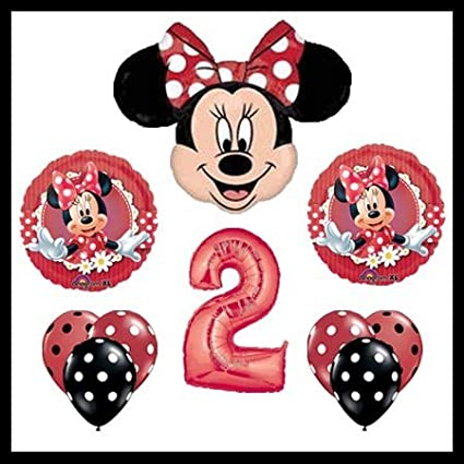 MAD About Minnie Mouse 2nd Birthday Party Balloons Decorations Supplies By Anagram
