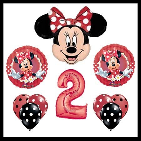 Image Unavailable Not Available For Color MAD About Minnie Mouse 2nd Birthday Party Balloons Decorations