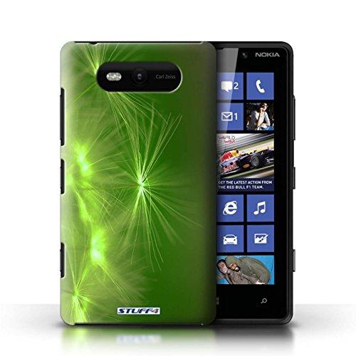 Etui / Coque pour Nokia Lumia 820 / Vert conception / Collection de Allumez la vie