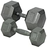 Champion Hex Dumbbell with Ergo Handle, 25 lbs