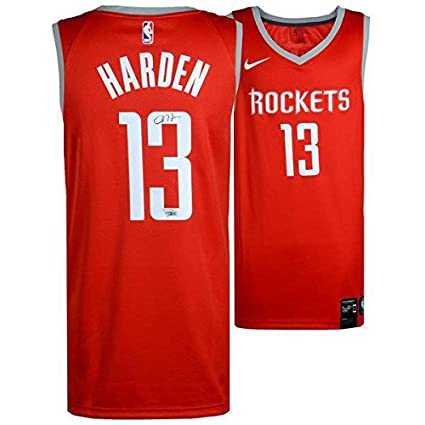 pretty nice 2ab85 1c6a0 Signed James Harden Jersey - Red Swingman FANATICS ...
