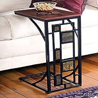 GEOMETRIC DESIGN SIDE SOFA TABLE