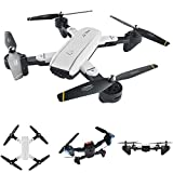 Littlepig SG700 RC Quadcopter Drone with Two 2.0MP HD Cameras Live Video and Foldable Aerofoils Headless Mode Altitude Hold 3D Flips FPV 2.4Ghz 4CH 6-Axis Gyro Helicopter(White)