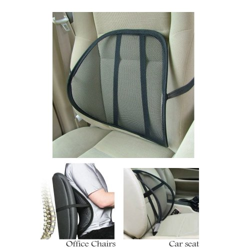 - Cool Vent Cushion Mesh Back Lumbar Support New Car Office Chair Truck Seat Black