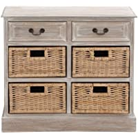 Benzara 96285 The Rural Wood 4-Basket Chest