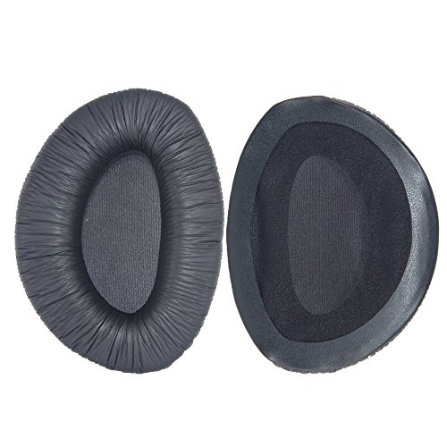Bingle leather Ear Cushions Spare Replacement Ear Pads for Sennheiser Headphone RS160 RS170 RS180 (1Pair Black)