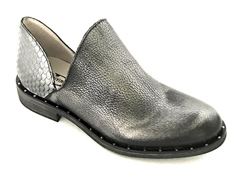 Argento Femmes Cuir Argente Pour MainApps Plates Divine Veritable Bottes Follie de Chaussures en v8wanY7qpg