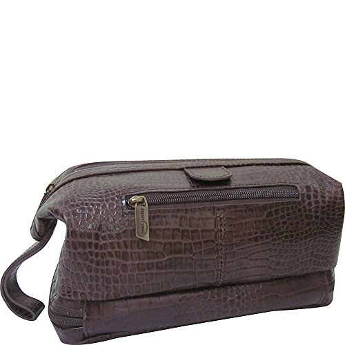 Amerileather Leather Toiletry Bag Brown - 4