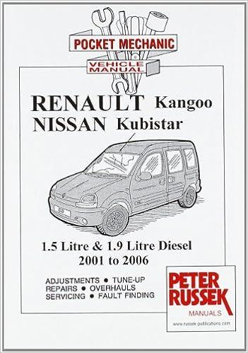 Renault Kangoo II, Petrol Models 1 2, 1 4 and 1 6 Litre Engine, 8