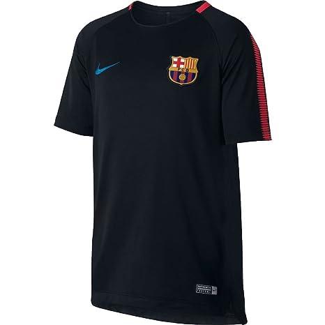 low priced 42c24 ce98c Amazon.com : NIKE 2017-2018 Barcelona Training Shirt (Black ...