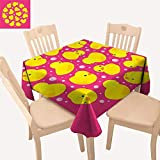 Best Picnic Table For Toddlers - haommhome Rubber Duck Tassel Tablecloth Fun Baby Duckies Review