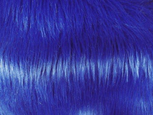 단색 셰기 인조 모피 원단-로열 블루 롱 파일 152.4cm 단위로 판매. / 단색 셰기 인조 모피 원단-로열 블루 롱 파일 152.4cm 단위로 판매.