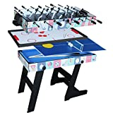 IFOYO 48 in/4 ft Multi-function 4 in 1 Steady Combo Game Table, Hockey Table, Soccer Football Table,...