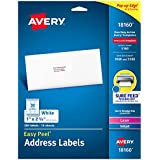 """Avery Address Labels with Sure Feed for Laser & Inkjet Printers, 1"""" x 2-5/8"""", 300 Labels – Great for FBA Labels (18160)"""