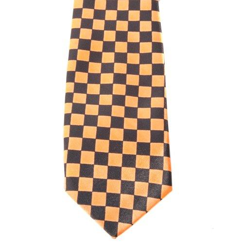 a e arancione 145 Cravatta Accessoryo cm nera quadretti x6Rnzw57H
