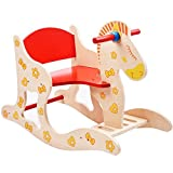 Eco-friendly Wooden Baby Rocking Horse Ride on Toy for Toddlers