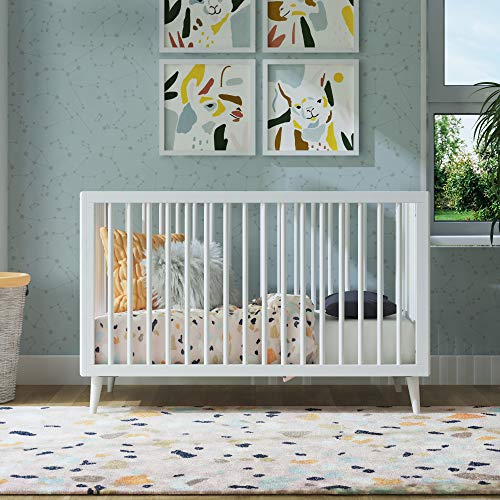 Review Novogratz Harper 3-in-1 Convertible Baby Crib, White