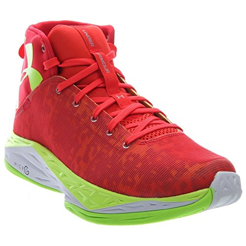Discount Basketball Shoes (Under Armour Mens UA Fireshot Basketball Shoes ROCKET RED/FUEL GREEN/Steel 12 D(M) US)