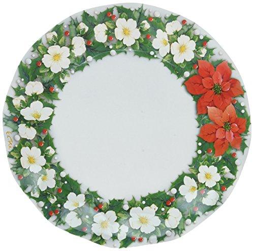 Poinsettia Large Plates (10/Pkg)