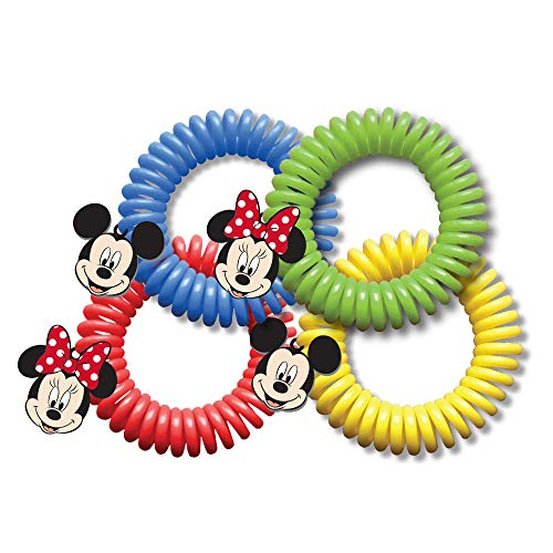 CLASSIC DISNEY SUPERBAND: All Natural Insect Repelling Wristband with Mickey and Minnie Mouse charms (25) (Classic Football State Bracelet)