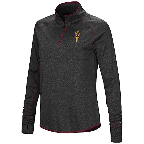 Colosseum Womens Arizona State Sun Devils Quarter Zip Long Sleeve Shirt - L
