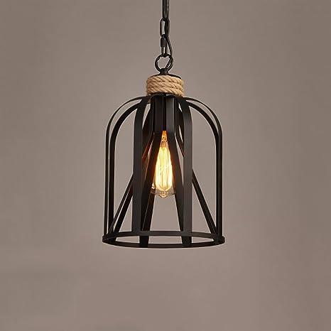 LZDHY Lámparas de araña Vintage industrial negro de cáñamo ...