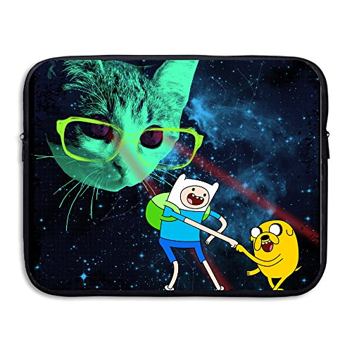 CYANY Adventure Animated TV Series Time Galactic Laser Cat Anti-shock Notebook Sleeve Case Size 15 Inch -