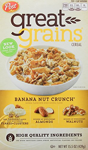 Post Great Grains Banana Nut Crunch Whole Grain Cereal 15.5 oz. Box ()