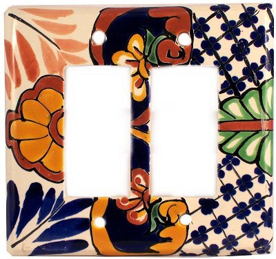 Double Mantel - Double Decora Mantel Talavera Switch Plate