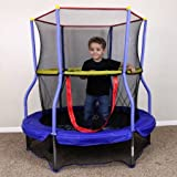 Skywalker SWTC055 55'' Round Bounce-n-Learn Interactive Game Trampoline,Interactive sound game with on/off switch, Maximum Weight: 100 lbs