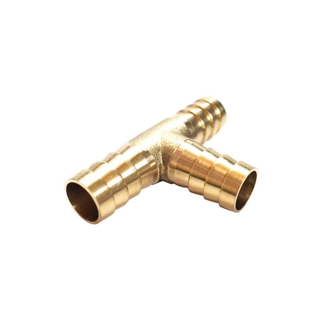 3//8 x 3//8 x 3//8 ID Hose Barb Branch Tee 3 Ways Barbed Hose Fitting Adapter Splicer Joint Union Brass Barb Fitting Tee
