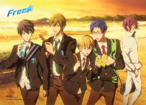 Officially Licensed Free! Iwatobi Swim Club: Group Sunset Wa