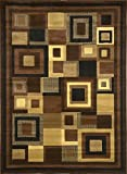 Home Dynamix Catalina 4467-469 Black/Brown Polyproplene 5-Feet 3 by 7-Feet 2 Contemporary Area Rug