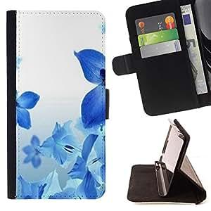 - Queen Pattern FOR Apple Iphone 6 PLUS 5.5 /La identificaci????n del cr????dito ranuras para tarjetas tir????n de la caja Cartera de cuero cubie - blue flowers spring fresh natur