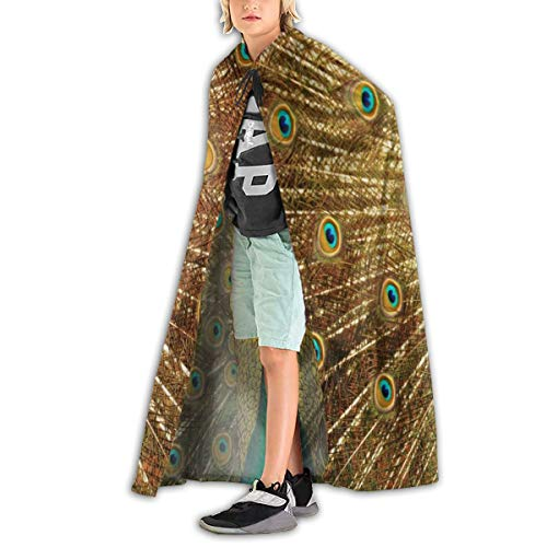 Ernest Congreve Clokes with Hoods for Kids Beautiful Peacock Hooded Cape for Halloween Costumes Riding ()