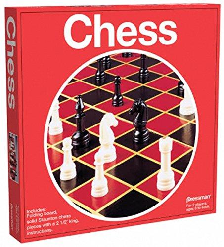 Pressman Toy Chess in Box, Red from Pressman