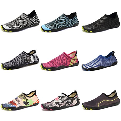 TcIFE Men Women Barefoot Water Aqua Shoes Skin Flexible Socks For Swim, Walking, Garden, Park, Driving, Yoga, Lake, Beach