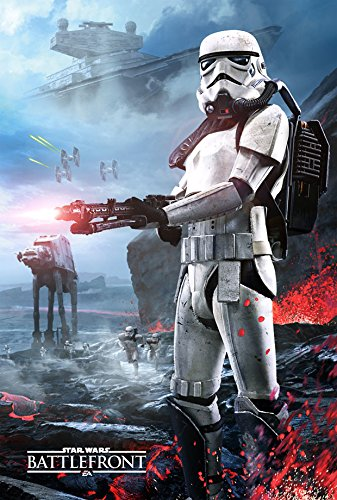 Star Wars Battlefront Stormtrooper Gamestop PreOrder Poster Double Sided