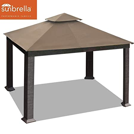EliteShade 10×13 feet Sunbrella Titan Patio Outdoor Garden Backyard Gazebo Sunbrella Cocoa