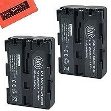 BM Premium Pack Of 2 NP-FM500H Batteries for Sony Alpha a77II, a68, SLT-A57, SLT-A58, SLT-A65V, SLT-A77V, SLT-A99V, SLT-A100, SLT-A200, SLT-A300, SLT-A350, SLT-A450, SLT-A500, SLT-A550, SLT-A560, SLT-A580, SLT-A700, SLT-A850, SLT-A900 DSLR Digital Camera
